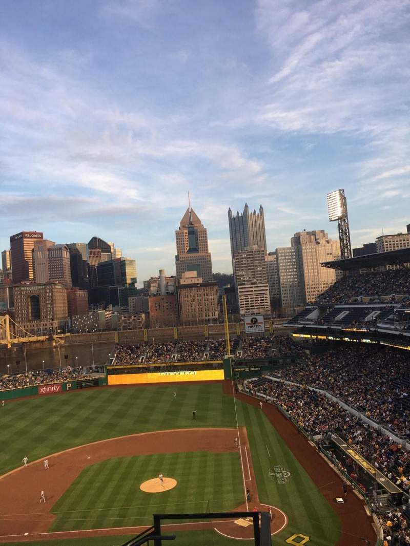 Seating view for PNC Park Section 321 Row J