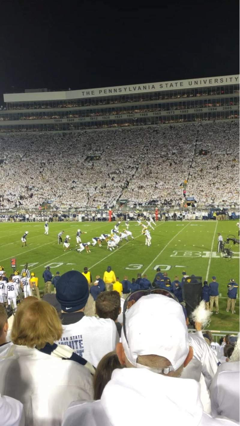 Seating view for Beaver Stadium Section WC Row U Seat 28