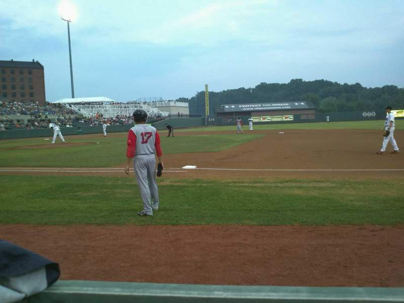 Seating view for Ripken Stadium Section 115 Row A Seat 5