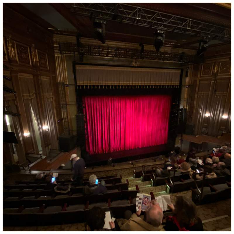 Seating view for Nederlander Theatre Section Mezzanine L Row H Seat 7