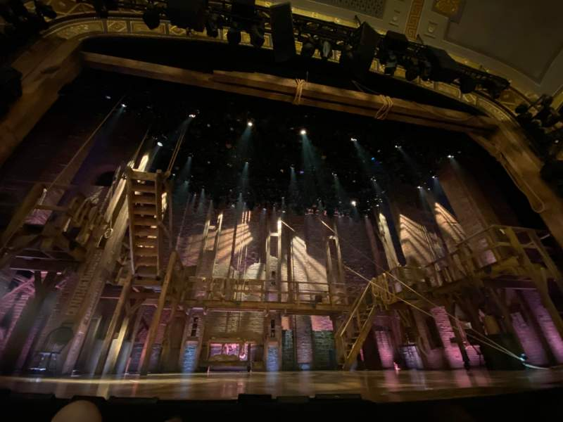 Seating view for Richard Rodgers Theatre Section Orchestra C Row B Seat 109