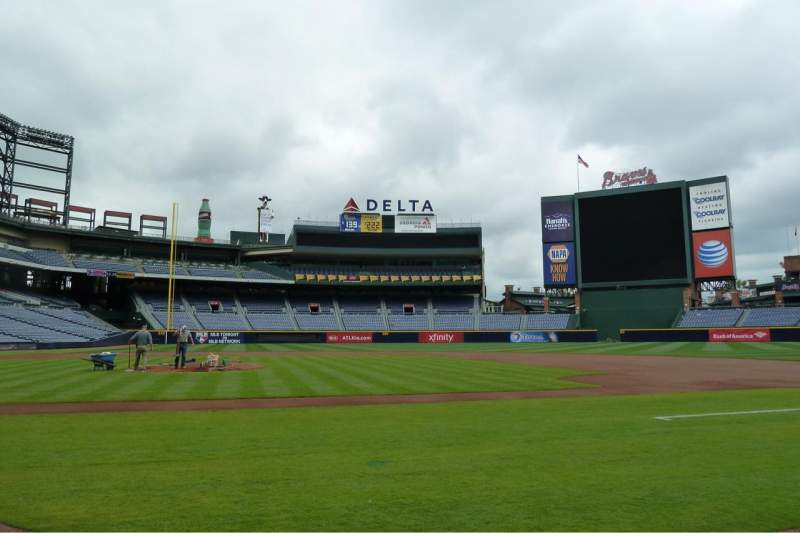 Seating view for Turner Field Section Dugout