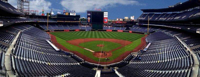 Seating view for Turner Field Section Press Box