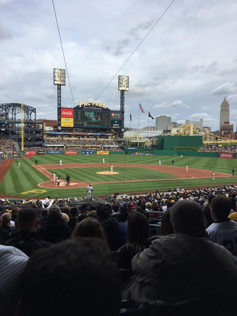 Seating view for PNC Park Section 114 Row X Seat 23