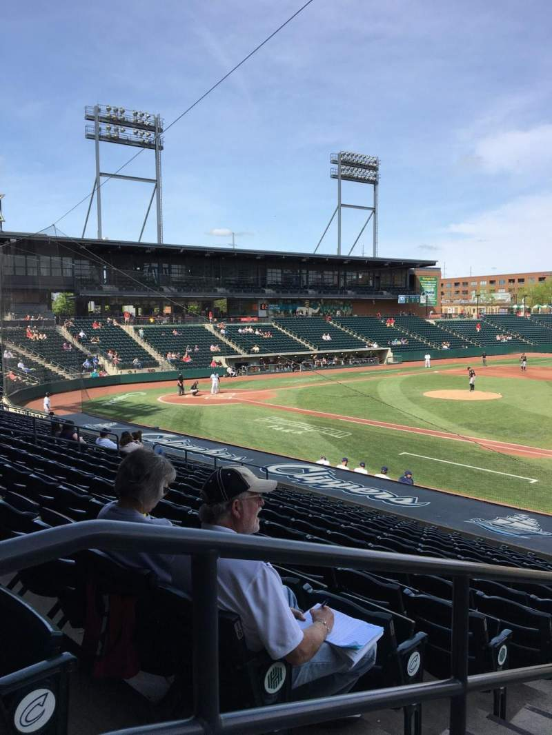 Seating view for Huntington Park Section 5 Row 17 Seat 18