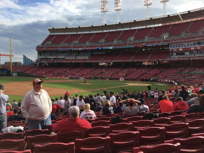 Seating view for Great American Ball Park Section 113 Row Y Seat 15