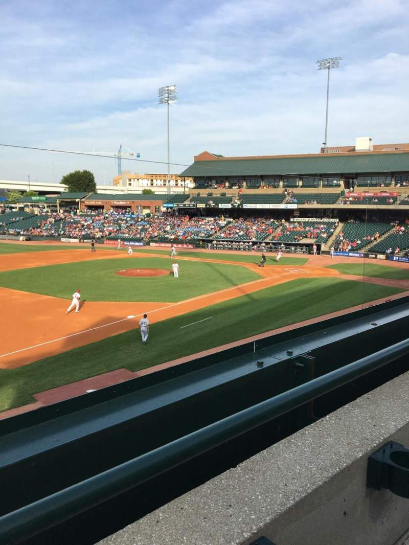 Seating view for Louisville Slugger Field Section 223 Row A Seat 4