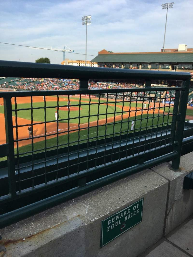 Seating view for Louisville Slugger Field Section 223 Row A Seat 1