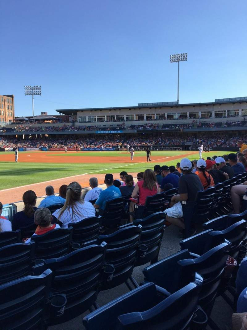 Seating view for Fifth Third Field Section 102 Row G Seat 6