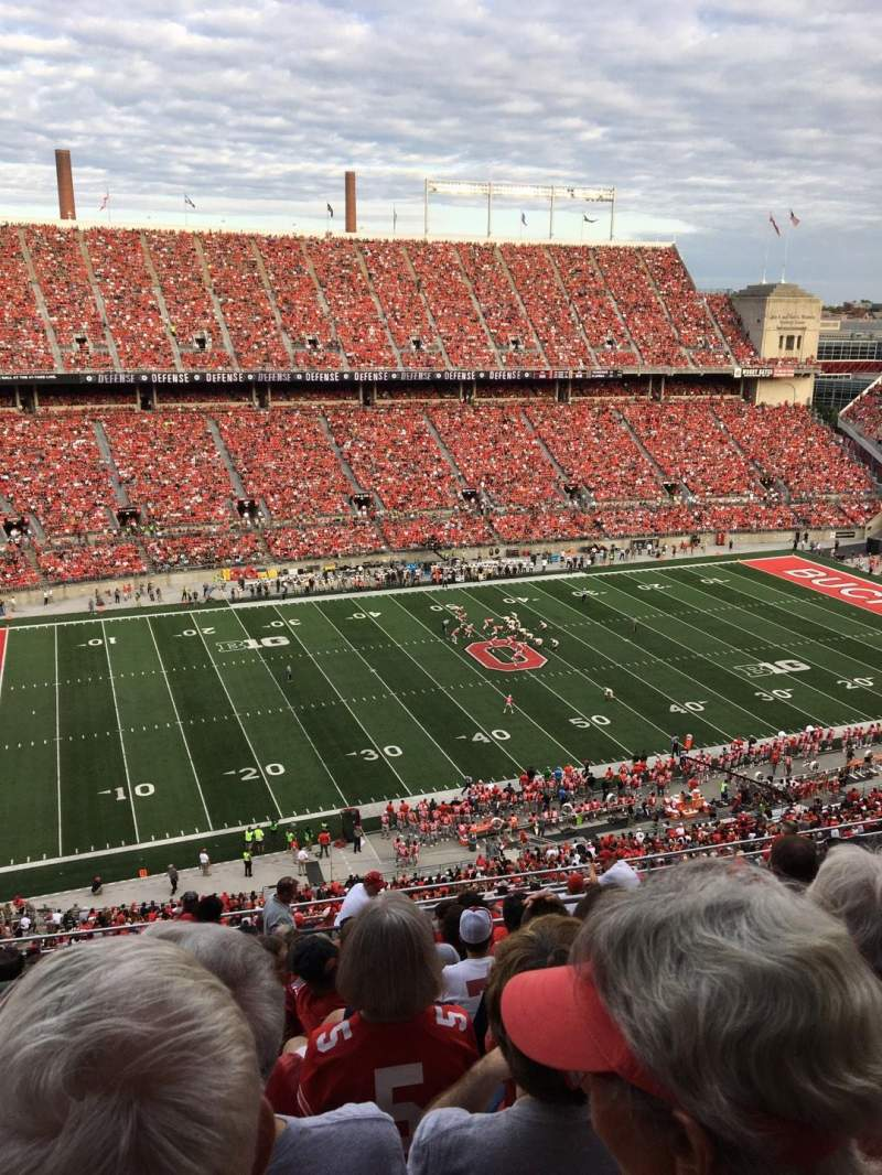 Seating view for Ohio Stadium Section 17C Row 19 Seat 1