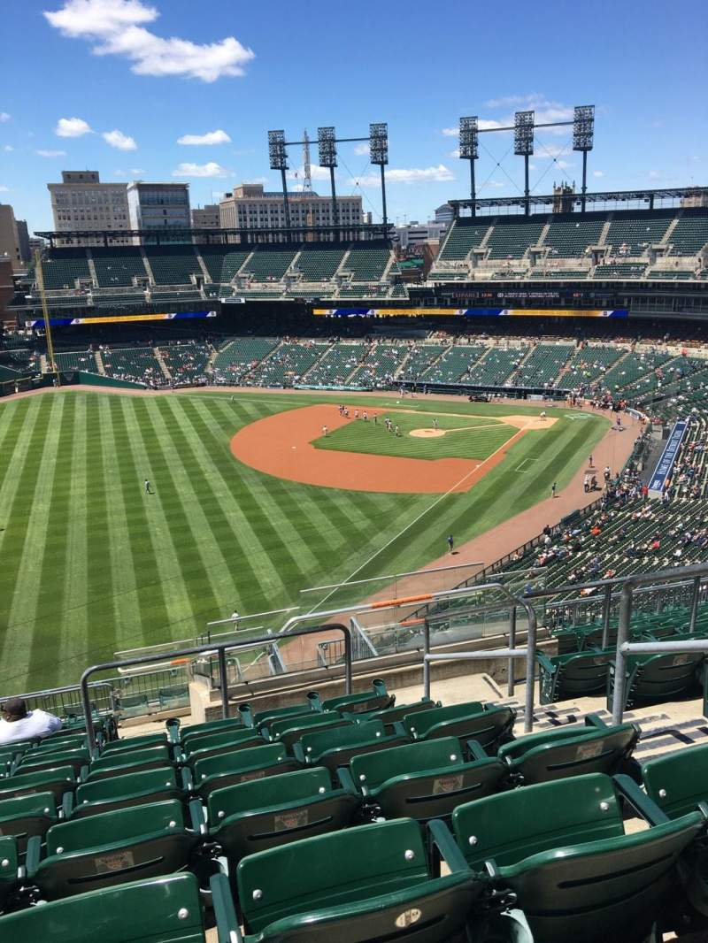 Seating view for Comerica Park Section 344 Row 12 Seat 4