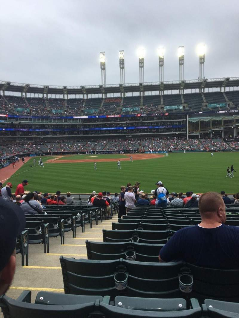 Progressive Field, section: 111, row: v, seat: 13