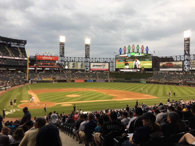 Guaranteed Rate Field, section: 129, row: 34, seat: 1