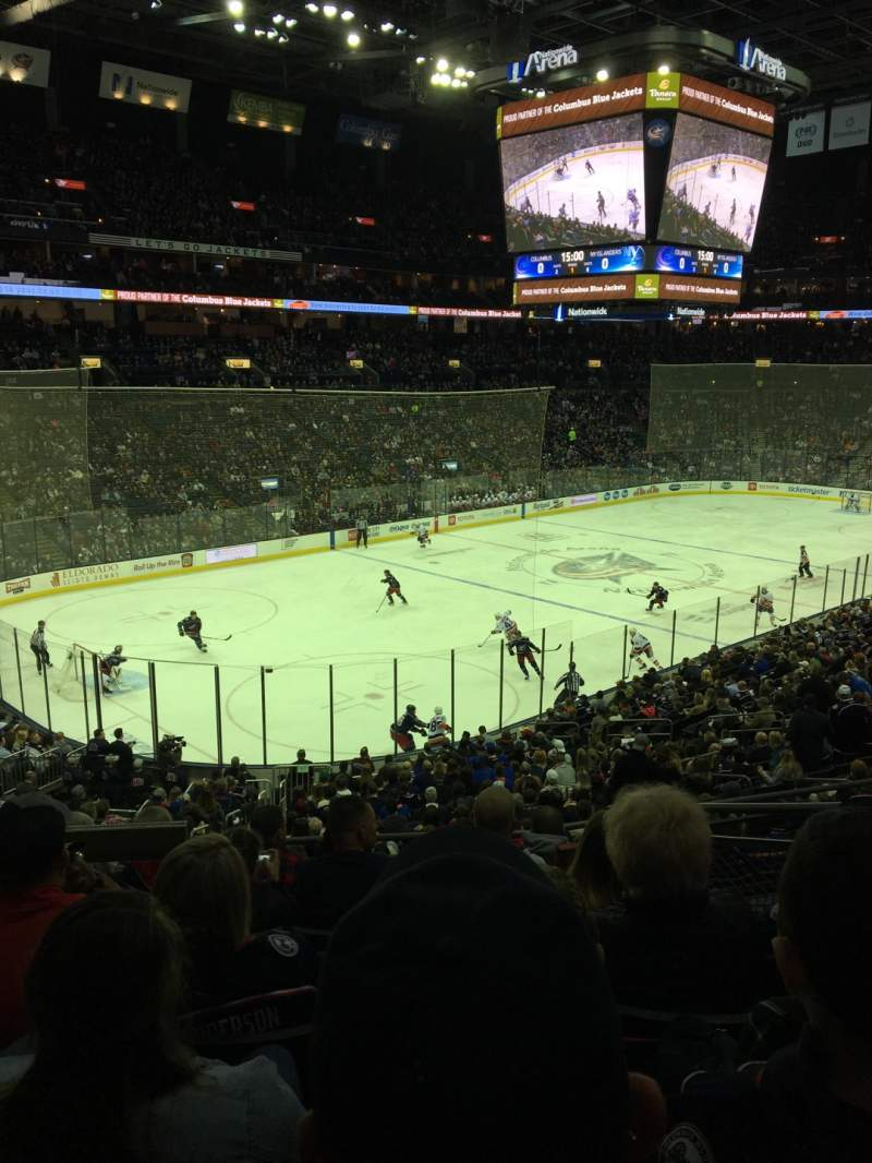 Seating view for Nationwide Arena Section 117 Row GG Seat 4