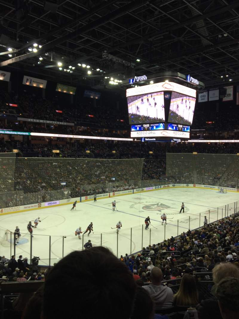 Seating view for Nationwide Arena Section 117 Row GG Seat 5