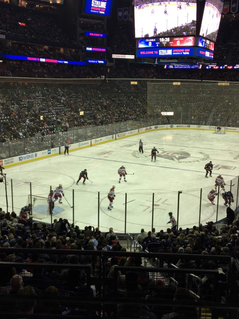 Seating view for Nationwide Arena Section C10 Row A Seat 1
