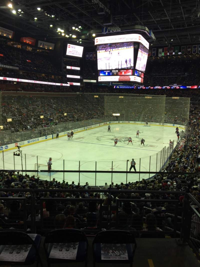Seating view for Nationwide Arena Section C10 Row A Seat 2