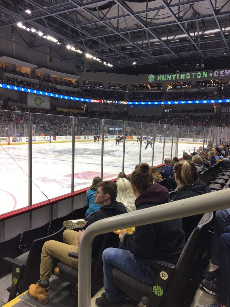 Seating view for Huntington Center Section 109 Row E Seat 1