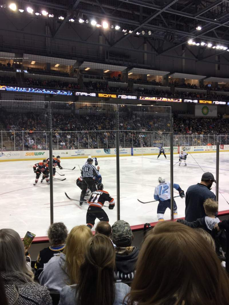 Seating view for Huntington Center Section 109 Row F Seat 3