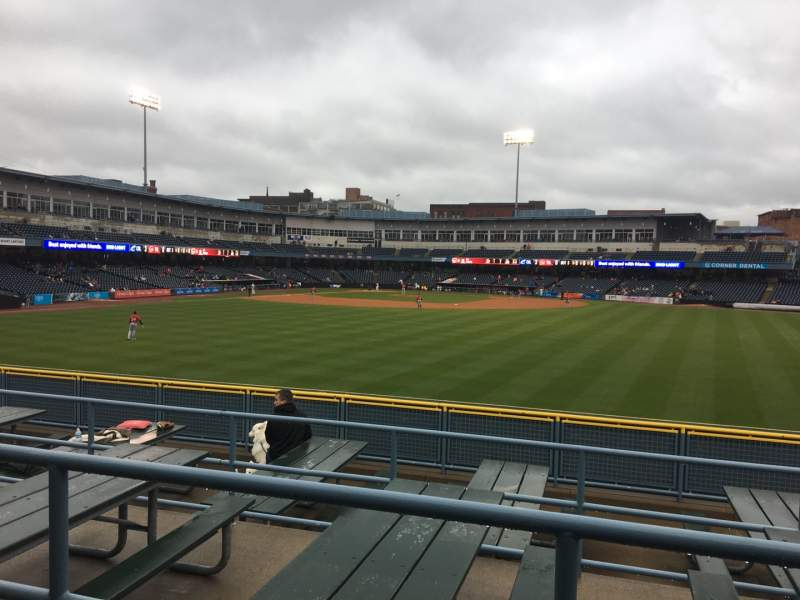 Seating view for Fifth Third Field Section 120 Row SRO