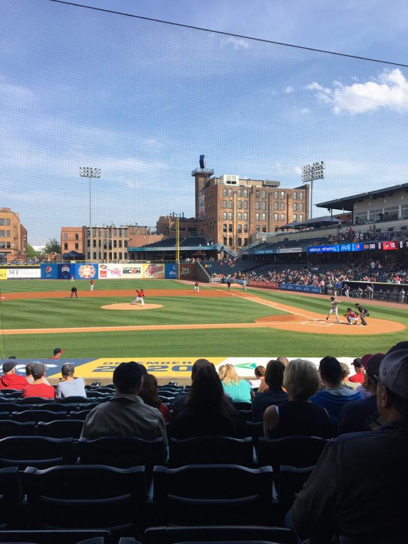 Seating view for Fifth Third Field Section 107 Row S Seat 11