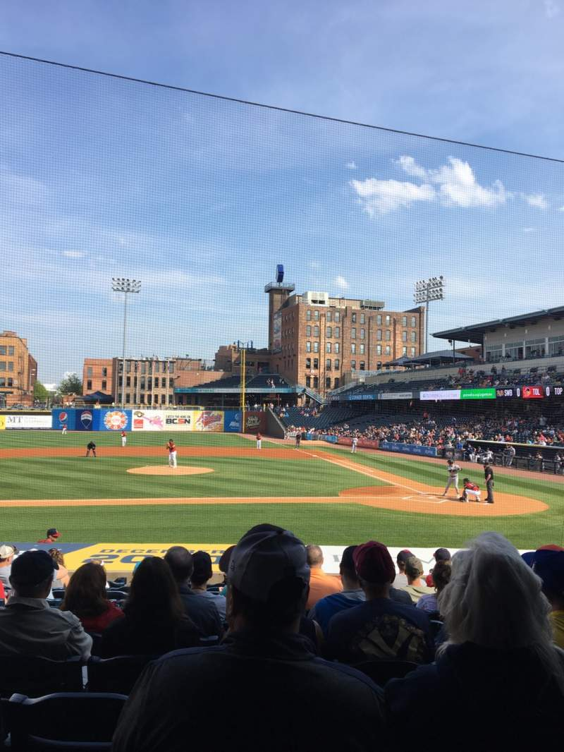 Seating view for Fifth Third Field Section 107 Row S Seat 10