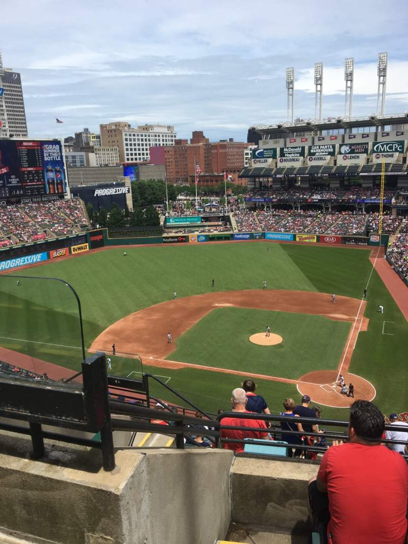 Seating view for Progressive Field Section 537 Row H Seat 18
