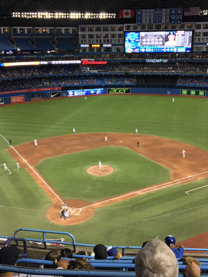 Seating view for Rogers Centre Section 523R Row 7 Seat 1
