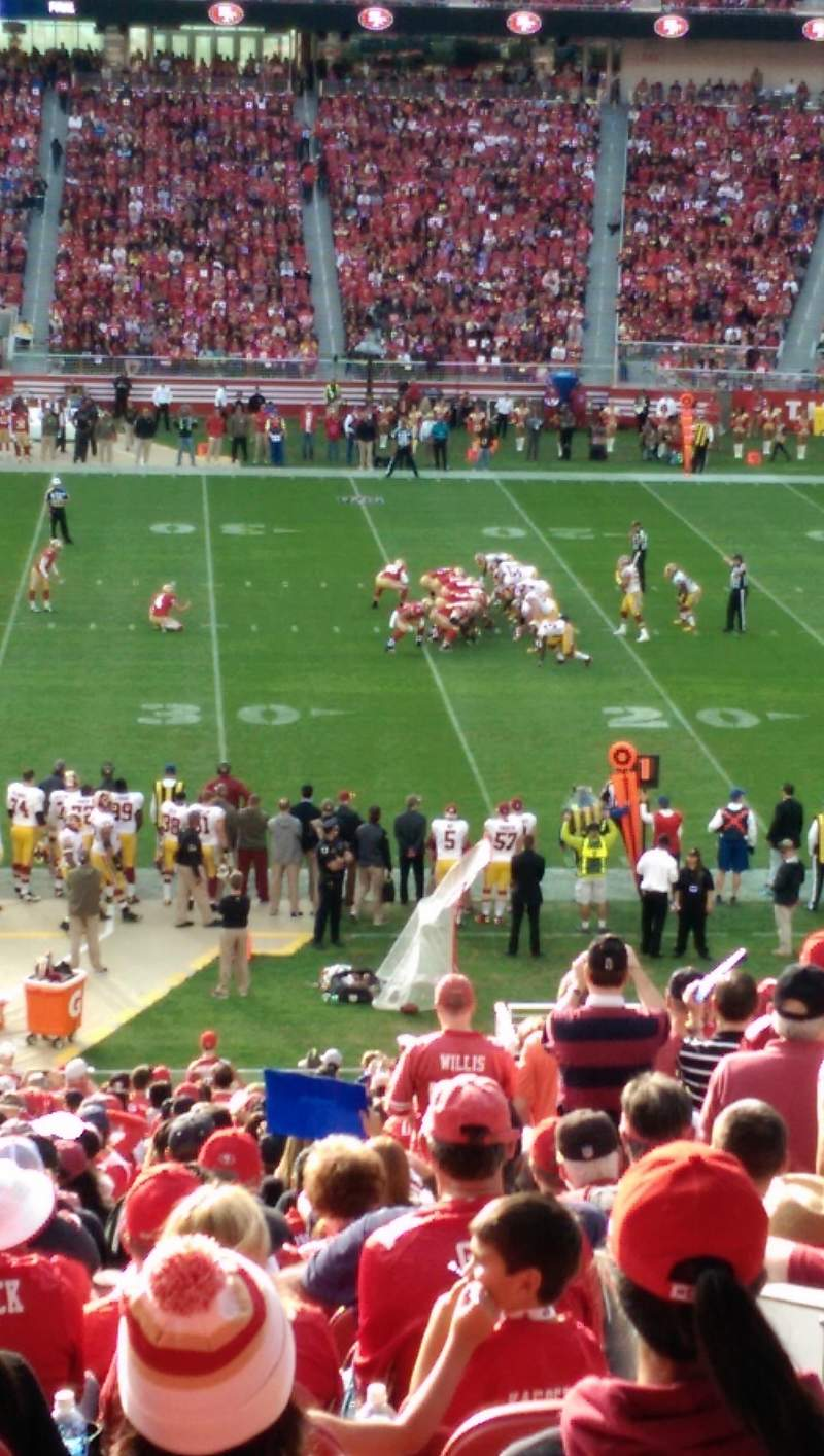 Seating view for Levi's Stadium Section 113 Row SRO bar rail