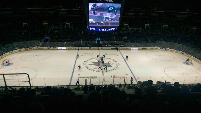Seating view for SAP Center Section 215 Row 8 Seat 19