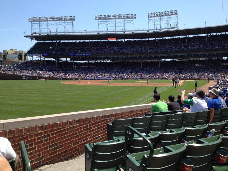Seating view for Wrigley Field Section 102 Row 3 Seat 101