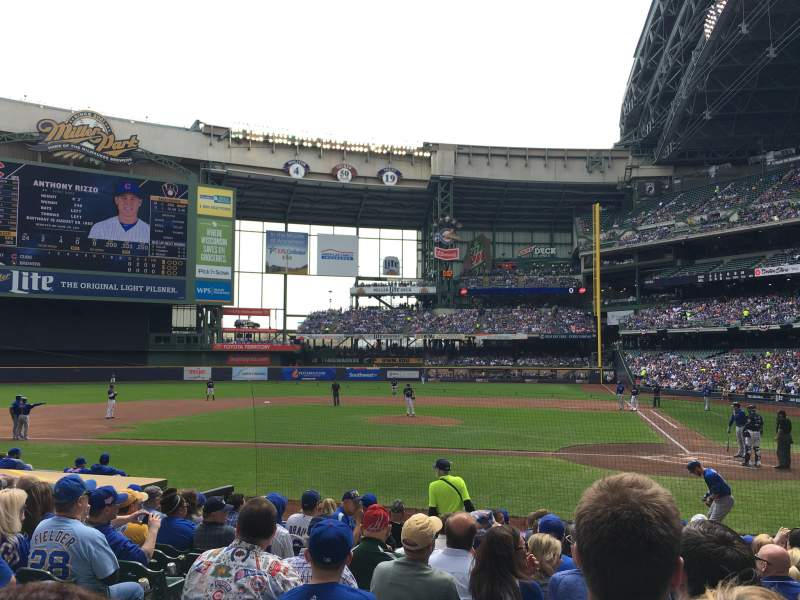 Seating view for Miller Park Section 120 Row 13