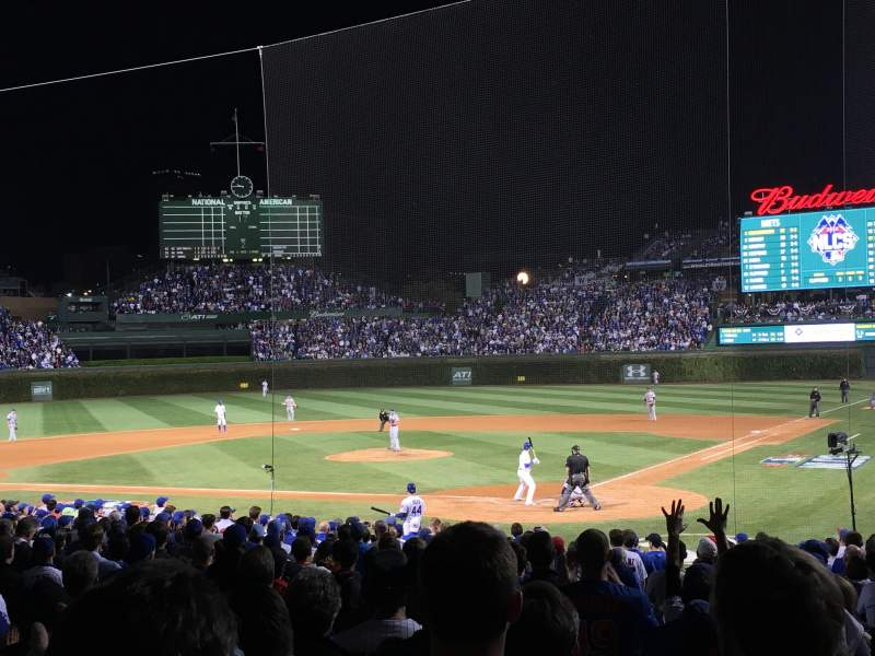 Seating view for Wrigley Field Section 115 Row 7 Seat 6