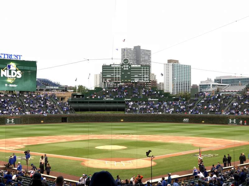 Wrigley Field, section 220, home of Chicago Cubs
