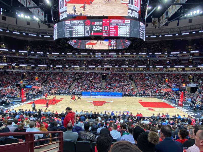 Seating view for United Center Section 111 Row 16 Seat 14