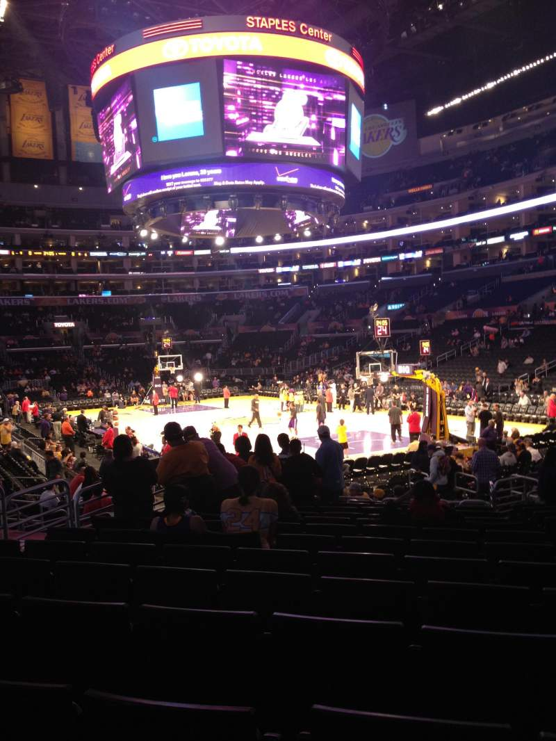 Seating view for Staples Center Section 117 Row 15 Seat 4,5
