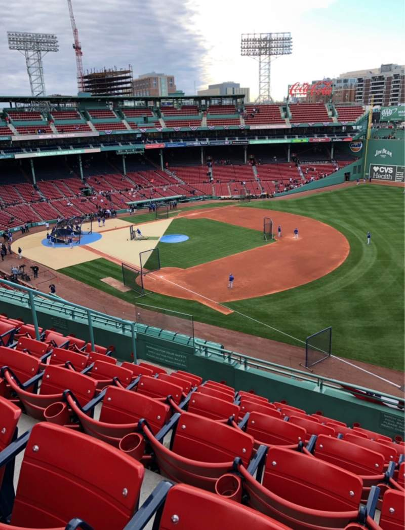 Seating view for Fenway Park Section Pavilion reserved 15 Row G