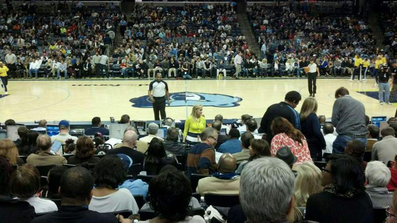 Seating view for FedEx Forum Section 105 Row L Seat 11
