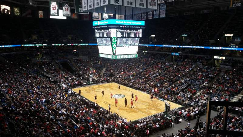 Seating view for BMO Harris Bradley Center Section 438 Row E Seat 4