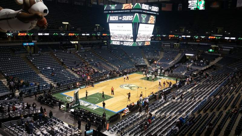 Seating view for BMO Harris Bradley Center Section 406 Row C Seat 6
