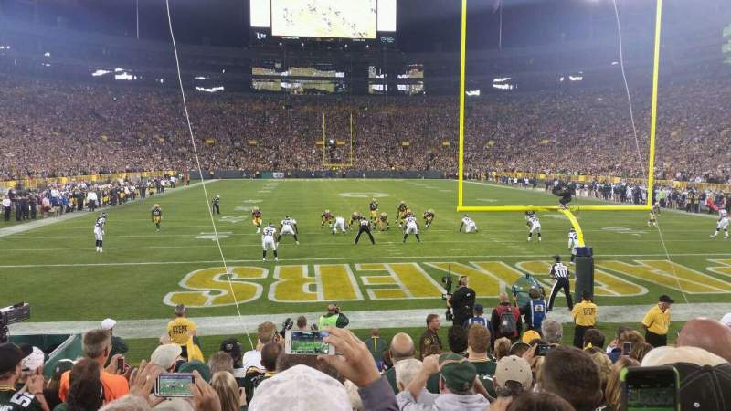 Seating view for Lambeau Field Section 138 Row 10 Seat 13