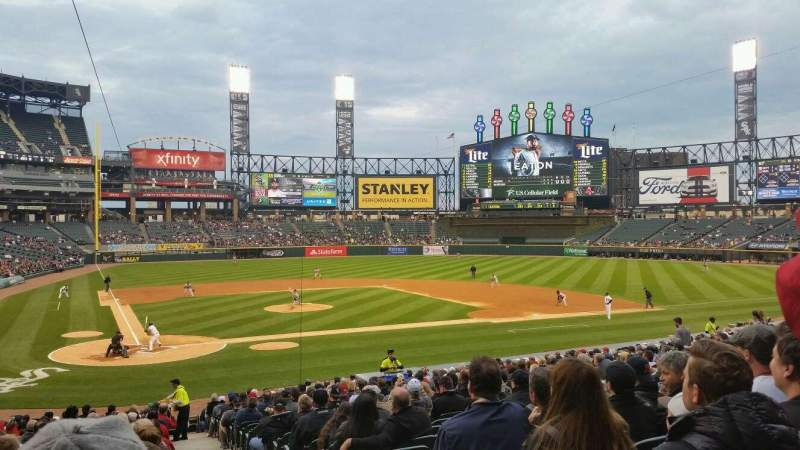 Seating view for Guaranteed Rate Field Section 129 Row 28 Seat 1