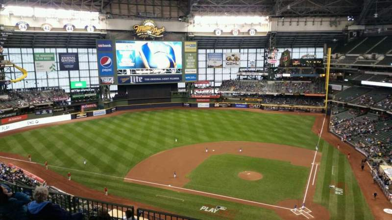 Seating view for Miller Park Section 426 Row 8 Seat 7