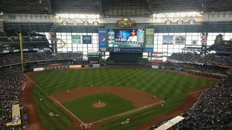 Seating view for Miller Park Section 420 Row 11 Seat 7