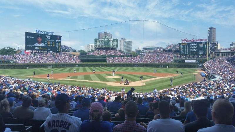 Seating view for Wrigley Field Section 219 Row 1 Seat 13