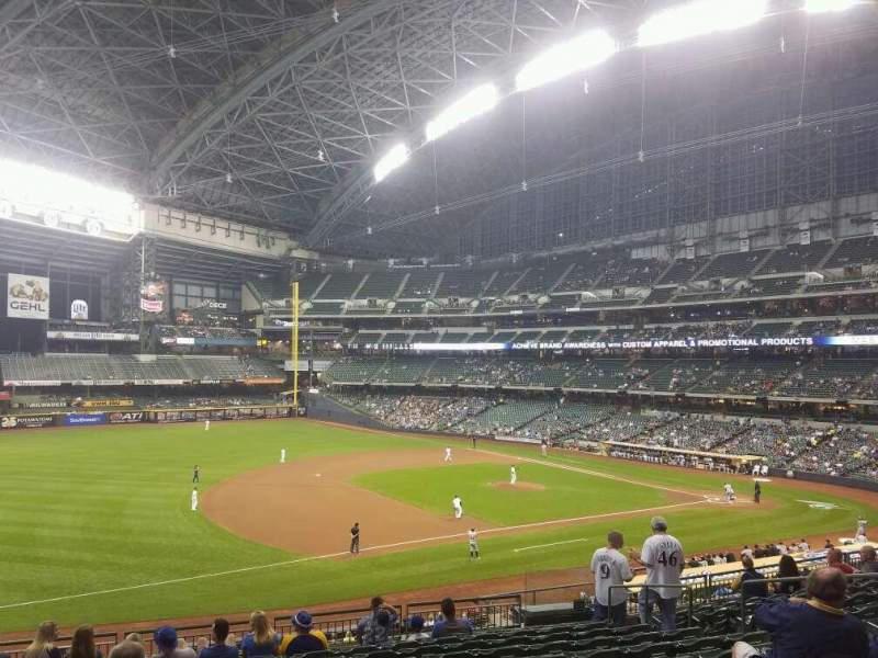 Seating view for Miller Park Section 227 Row 11 Seat 10