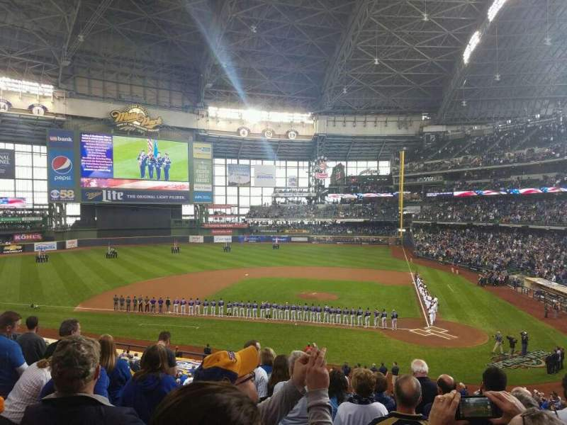 Seating view for Miller Park Section 222 Row 8 Seat 10