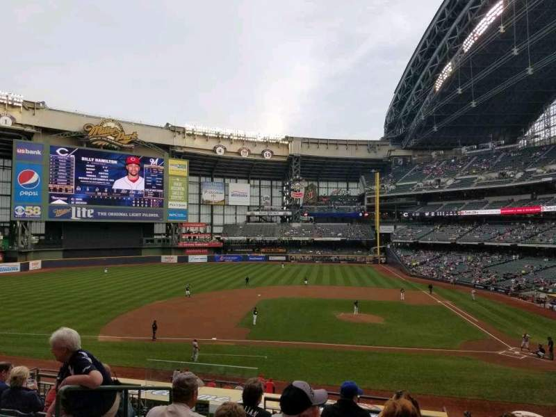 Seating view for Miller Park Section 223 Row 6 Seat 15