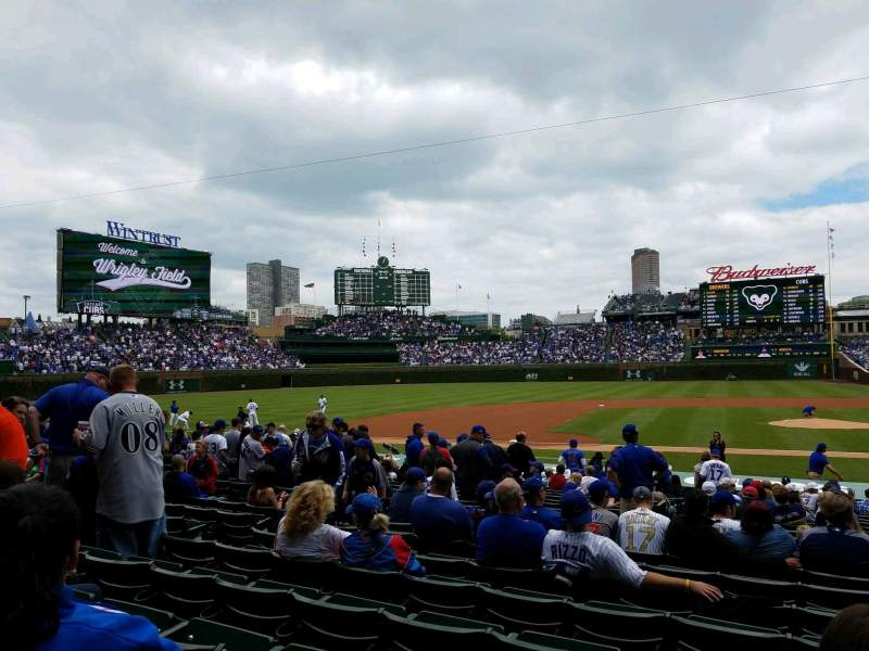 Seating view for Wrigley Field Section 112 Row 8 Seat 9