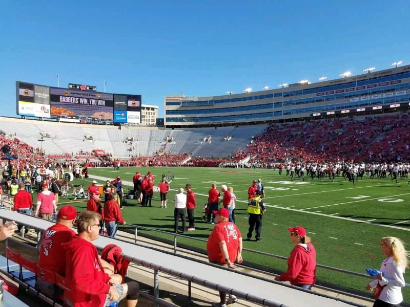 Camp Randall Stadium, section: B, row: 9, seat: 5